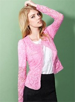 Moonbasa women's 2013 autumn romantic three-dimensional embroidered lace short jacket 037313320