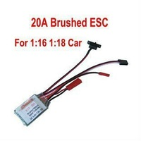 free shiping!ESC 20A Brushed Reverse Motor Speed Controller 1/16 1/18 CAR Boat (BRAKE ON) Free Shipping