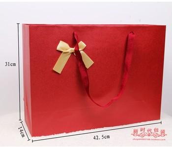 Advanced specialty paper number increase gift bag LiDai handbag garment bag packaging paper bags wholesale