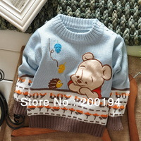 Free Shipping (3pcs/lot ) Autumn/ Winter Winnie Children Cotton Sweater Pullover Sweaters 4 Colors