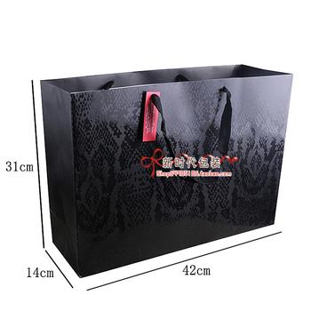 Classic black han edition paper gift bag/oversized birthday gift bag/paper bag paper bag   31*14*42.5CM