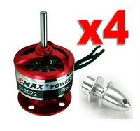 free shiping!4x EMAX CF2822 1200KV Brushless Motor w/Prop Adapter for Multicopter Quadcopter free shipping
