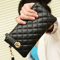 3 colors 2014 new brand designer women PU leather wallet card holder women's purse / wallet, ladies wallet free shipping