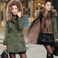 2014 Winter Women Plus Size Fur Collar Medium-Long Wadded Jacket Cotton-Padded Jacket Thickening Women'S Cotton-Padded Jacket