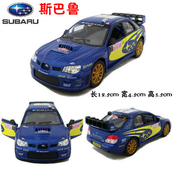 4 soft world artificial car model toy car alloy car model SUBARU automobile race