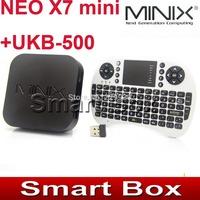 MINIX NEO X7 mini X7mini Quad core RK3188 2G 8G TV BOX set top box Android 4.2.2 +UKB-500 2.4G mini keyboard with touchpad
