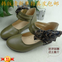Free Shipping 2013 genuine leather cowhide single shoes princess female child leather single shoes single shoes 26 36