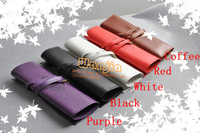 Free shipping! Retro pencil pouch, pen bag/pen case,make up cosmetic bag, twilight leather pencil case  5 colors