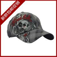 Miami ink summer boys check baseball cap hiphop women's cap skull sun-shading thin hat