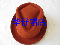 Wool fedoras short brim small fedoras jazz hat hip-hop cap performance cap hat