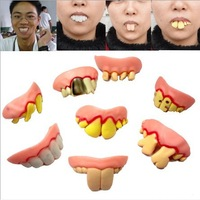 New Arrival Wholesale 100pcs/lot Funny Braces, Rotten Teeth, Funny Teethes, Costume Party Ugly Fake Teeth 8 model