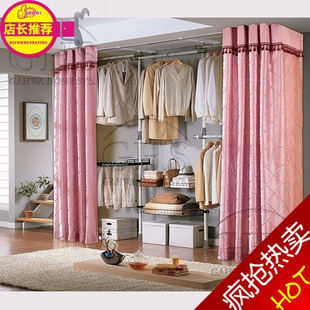 Floor clothes rack simple combination coatroom storage wardrobe diy cloth wardrobe