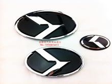 Refires KIA k exude 7 piece set the sign KIA emblem k5 emblem car sticker refires emblem(China (Mainland))