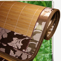 Luxury bamboo and rattan home textile double faced of dual-use four seasons seats bamboo mat