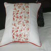 100% cotton fabric pillow cover cushion cover small floral print cotton cloth rustic kaozhen set border 50