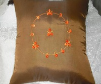 Lu embroidery pillow cover cushion cover coffee petals clip cushion set 45