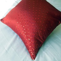 Pillow cover cushion cover paillette peacock purplish red shiny 45 fabric car cushion sets