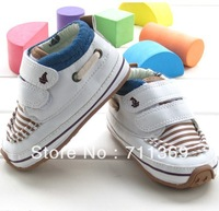 Free shipping Wholesale Baby Toddler shoes Boy Loop Outdoor Shoes PU Kid 1-3 Years baby Shoes 3 pair/lot 3Size for Choose