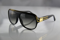Free shipping High quality fashion The black gold lettering sheet millionaire sunglasses