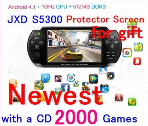 Портативная игровая консоль 3 /Iot JXD S5300 5,0 Android 4.1.1 ARM CorteX A8 1GMHz 4 JXD X портативная игровая консоль 20 4 4 3 pmp bulit fm tv