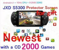 "3PCS/Iot  JXD S5300 5.0-inch Android 4.1.1 ARM Cortex A8 1GMHz CPU 4GB the second generation of JXD game center ""Game X"""
