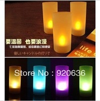 Colorful acoustic control led candle lamp electronic candle romantic candle wedding birthday small night light gift