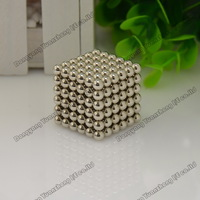 Promotion! Free shipping 5mm Neo cube 216+2pcs/set with metal box/ Buckyballs,Magnetic Balls, neocube, magic cube/ color:nickel