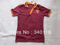 2013-2014 season Roma home soccer tshirts Football jersey top thailand quality size:S-XL