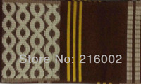 Free shipping,  high quality African OSO OKE,  headtie fabric, 17.2 meter x 0.17 meter per pc. Nigerial ASO-OKE in COFFEE.