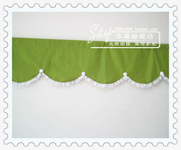 Bow bl69 lawngreenlawngreen rustic curtain cloth curtain semi-shade coffee curtain cabinet curtain