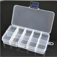 Free Shipping 10 Transparent Plastic Storage Jewelry Componen Sall Hardware Tool Box