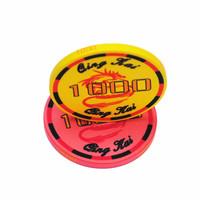 10 pcs /lot 10g ceramic pokerchips 11 kinds of face value number  2013 New Casino Grade