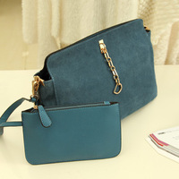 2013 vintage genuine leather chain scrub brief portable one shoulder cross-body women's handbag