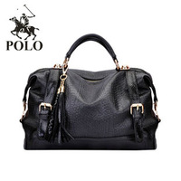 Classic vintage serpentine pattern genuine leather tassel handbag one shoulder cross-body women's handbag