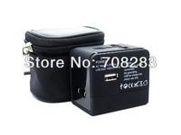 HOT OFFER  USA, UK ,Eu and  Au . World universal travel adaptor with usb for Bank,Hotel,Supermarket,Business Travel,Gift