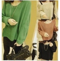 2013 spring loose shirt pullover sweater all-match women's basic sweater outerwear