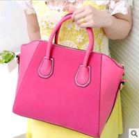 High quality fashion bags 2013 women's handbag nubuck leather smiley  vintage  one shoulder cross-body women's handbag