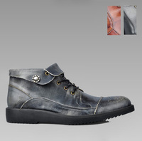 2013 autumn male boots trend leather fashion boots genuine leather martin boots outdoor male