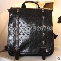 xams gift PUNK bag 2014 skull rivet  vintage preppy style one shoulder cross-body double-shoulder school