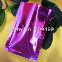 "500pcs 8x12cm=3.2x4.7"" Wholesale purple  Open-top laminated material Bag for food/Accessories/Promotional Free Ship D109c-500"