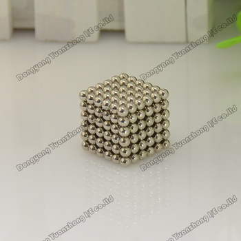 Promotion! Free shipping 3mm Neo cube 216pcs/set with metal box/ Buckyballs,Magnetic Balls, neocube, magic cube/ color:nickel