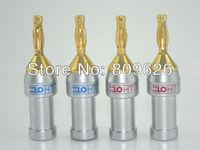 XLO 24K gold plated banana audio plug 4pieces