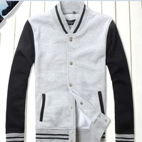 New 2013 Hot Men's Jacket Baseball Fashion Jackets,Basketball Jackets 3 Color: Black,Red,Navy Free Shipping 4Size:M-XXL