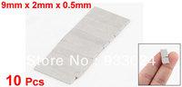 Silver Tone 9mm x 2mm x 0.5mm Rare Earth Neodymium Strong Magnet 10 Pcs