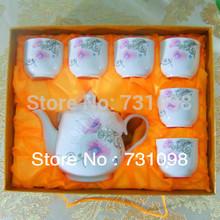 New arrive! 7pcs porcelain tea set, above 45% bone china tea pot and cups