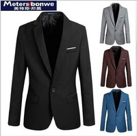 3XL 4 Color Business Man's Blazer Fall Cotton Casual Men Overcoats Single Button Fashion Mens Outwear Brand Blazers For Man