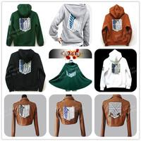 FS Eren Mikasa Ackerman Rivaille Hoodie Sweater Cloak Leather Jacket Outerwear Shingeki No Kyojin Attack On Titan Cosplay