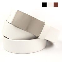 Ifsong fashion cowhide belt plate buckle genuine leather strap 2245 three-color