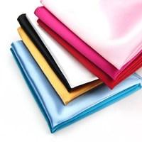 Ifsong solid color handkerchief squareinto male suit pocket towel chromophous 059