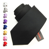 Male formal ifsong commercial married silk tie black 8.5cm 079 chromophous